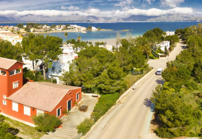 Villa en Alcúdia - MORER VERMELL :) Villa para 8 personas en Es Barcares, Alcudia. WiFi y AC