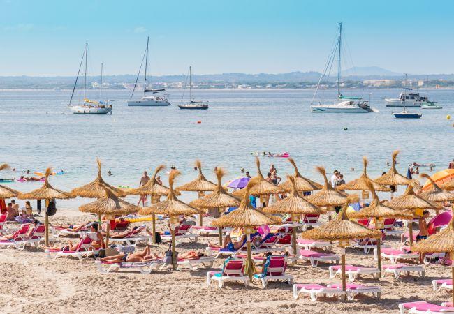 Apartamento en Alcúdia - PARADISE BEACH :) 4 personas en Puerto de Alcudia
