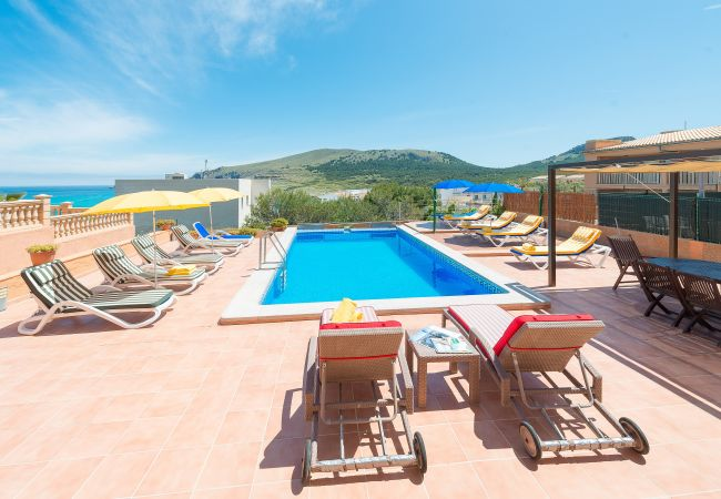 Villa en Cala Mesquida - CAMOMILA :) Villa para 12 personas en Cala Mesquida. WiFi gratis