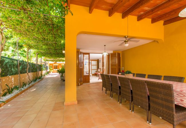 Casa adosada en Alcúdia - CARRASQUET :) Casa para 12 personas 120m Playa Alcudia