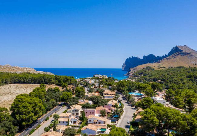 Villa en Pollensa / Pollença - ARIZONA Villa para 8 en Cala Sant Vicente con piscina