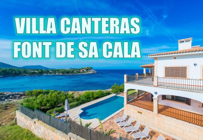 Villa in Capdepera - CANTERAS Villa mit Pool direkt am Meer in Cala Ratjada