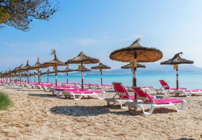 Ferienhaus in Alcúdia - SALZES V Maisonette für 6 Personen 50 m vom Strand entfernt