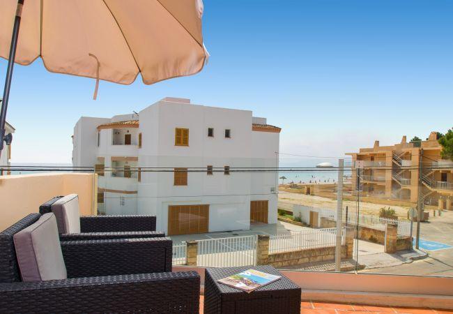 Ferienhaus in Alcudia - SALZES V Maisonette für 6 Personen 50 m vom Strand entfernt