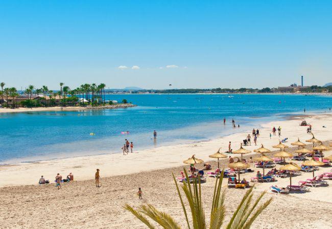 Ferienwohnung in Alcúdia - ORQUIDEA :) 4  personen mit pool. Wifi und AC
