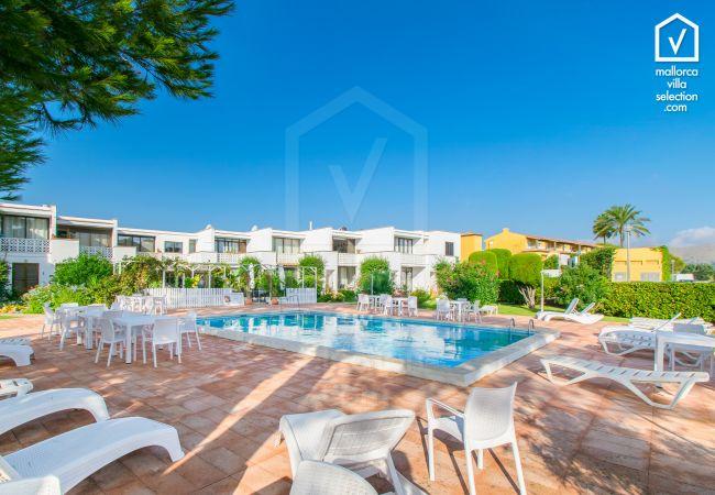 Ferienwohnung in Port de Pollença - CLUB DEL SOL Wohnung für 2 in Puerto Pollensa 150m vom Strand