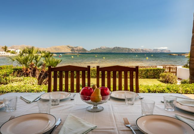 Apartment in Alcúdia - PERICAS first line of the sea of Alcudia, for 8 people, free WiFi