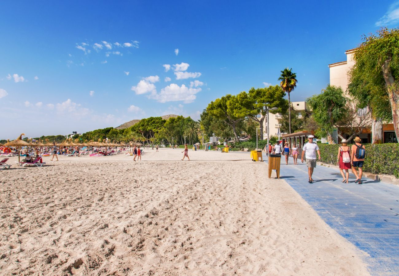 Apartment in Alcudia - CARABELA BEACH for 4 with pool 10 m from the beach
