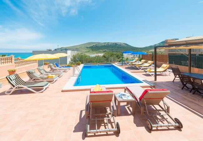 Villa à Cala Mesquida - CAMOMILA Villa pour 12 avec piscine à Cala Mesquida