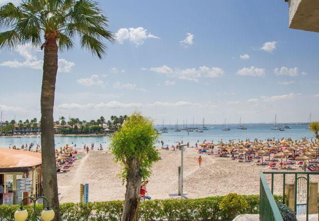 Appartement à Alcúdia - CARABELA BEACH pour 4 avec piscine à 10 m de la plage