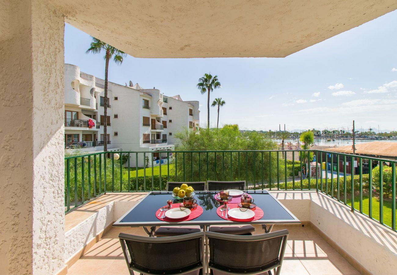 Appartement à Alcudia - CARABELA BEACH pour 4 avec piscine à 10 m de la plage
